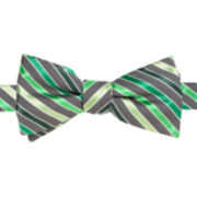 JF J. Ferrar® Duke Stripe Self-Tie Bow Tie