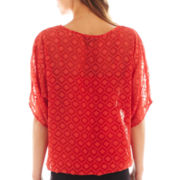 Alyx® Elbow-Sleeve Textured Bubble Top