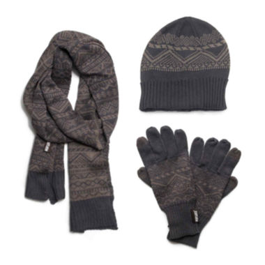 jcpenney.com | MUK LUKS® 3-pc. Jacquard Beanie, Scarf and Texting Gloves Set