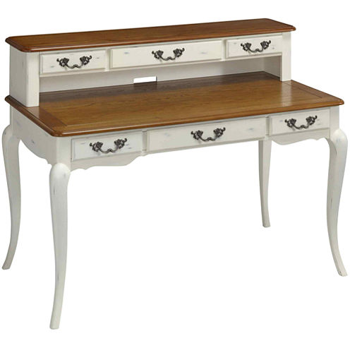 Beaumont Distressed Executive Desk and Hutch