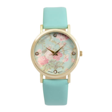 jcpenney.com | Journee Collection Womens Crystal-Accent Floral Dial Watch