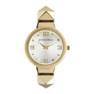 jcpenney.com | Journee Collection Womens Textured Bezel Stainless Steel Bracelet Watch