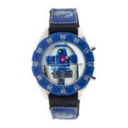 Star Wars® R2-D2 Kids Blue Nylon Strap Digital Watch