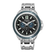 Armitron® All-Sport® Mens Stainless Steel Watch 20/5095BKBL