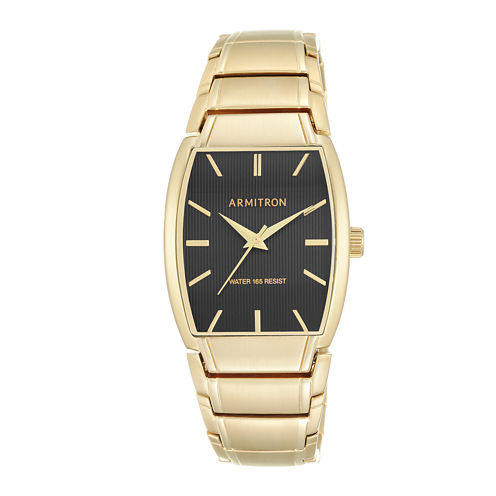 Armitron® All-Sport® Mens Gold-Tone Stainless Steel Watch 20/5117BKGP