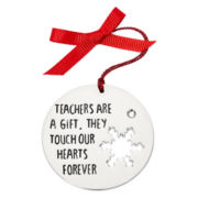 Messages from the Heart® by Sandra Magsamen® Silver-Tone Teacher Ornament