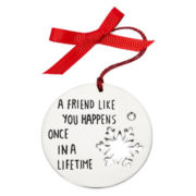 Messages from the Heart® by Sandra Magsamen® Silver-Tone Friend Ornament