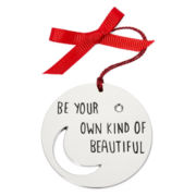 Messages from the Heart® by Sandra Magsamen® Silver-Tone Be Beautiful Ornament