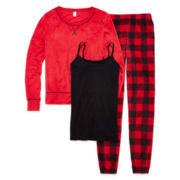 Flirtitude® Long-Sleeve 3-Piece Pajama Set