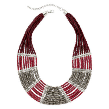 jcpenney.com | Decree® Multi-Row Seed Bead Necklace