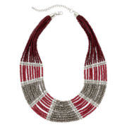 Decree® Multi-Row Seed Bead Necklace