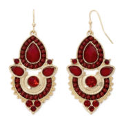 Decree® Red Bead Drop Earrings