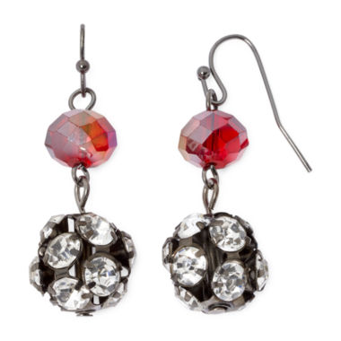jcpenney.com | Mixit™ Red Fireball Drop Earrings