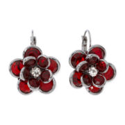 Mixit™ Red Flower Earrings