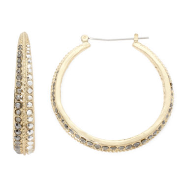 jcpenney.com | Bold Elements Mixed Metal Hoop Earrings
