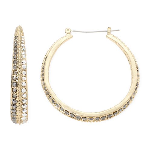 Bold Elements Mixed Metal Hoop Earrings