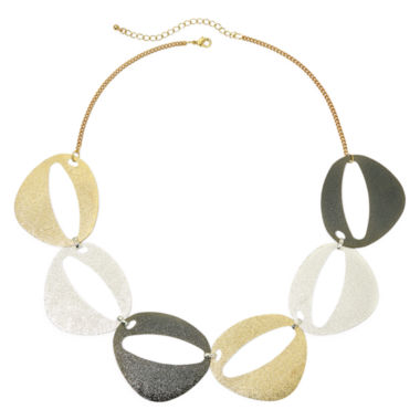 jcpenney.com | Bold Elements™ Brushed Finish Oval Necklace
