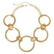 Bold Elements Metal Ring Statement Necklace