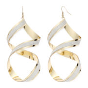 Bold Elements™ Two-Tone Metal Twisted Drop Earrings