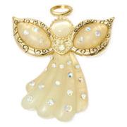 Gold-Tone Christmas Angel Pin