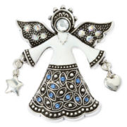 Silver-Tone Christmas Angel Pin