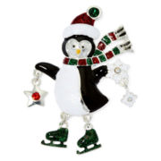 Christmas Penguin Shaky Pin