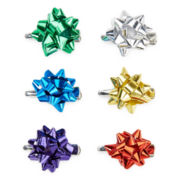 Multicolor Christmas Present Bow Hair Clips