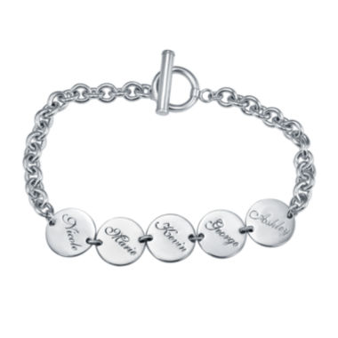 jcpenney.com | Personalized Disk Family Bracelet