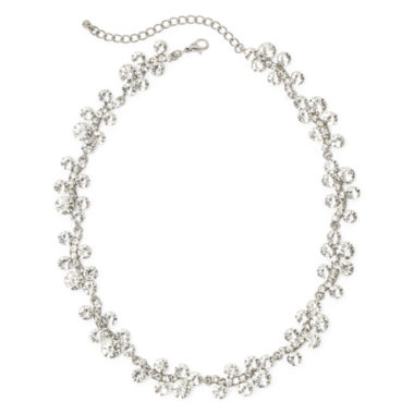jcpenney.com | Natasha Mini Crystal Silver-Tone Necklace