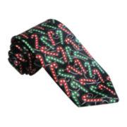 Hallmark® Multi-Foil Candy Cane Tie - Extra Long
