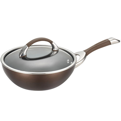 "Circulon® Symmetry 9½"" Hard-Anodized Nonstick Stir-Fry Pan with Lid"