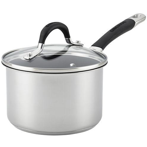 Circulon® Momentum 2-qt. Stainless Steel Nonstick Saucepan with Lid
