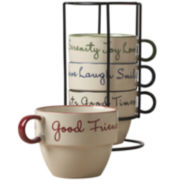 Tabletops Gallery® 5-pc. Stackable Soup Mug Set