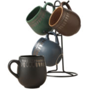 Tabletops Gallery® Bomba 5-pc. Mug Tree Set