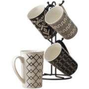 Tabletops Gallery® Black 5-pc. Mug Tree Set