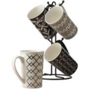 Tabletops Gallery® Black 5-pc. Mug Tree Set