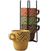 Tabletops Gallery® Oscar 5-pc. Stackable Mug Set