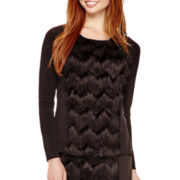 I 'Heart' Ronson® Long-Sleeve Fringe Top