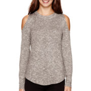 I 'Heart' Ronson® Long-Sleeve Cold-Shoulder Top