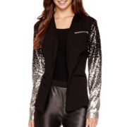 I 'Heart' Ronson® Sequin-Sleeve Blazer