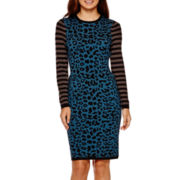 I 'Heart' Ronson® Long-Sleeve Leopard Print Dress