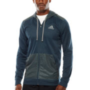 adidas® Go To Mixed-Fabric Full-Zip Hoodie