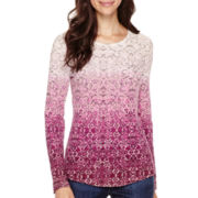 Liz Claiborne® Long-Sleeve Thermal T-Shirt