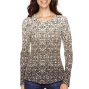 Liz Claiborne® Long-Sleeve Thermal T-Shirt