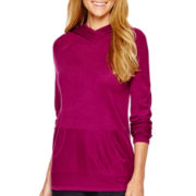 Liz Claiborne® Long-Sleeve Hooded Sweater