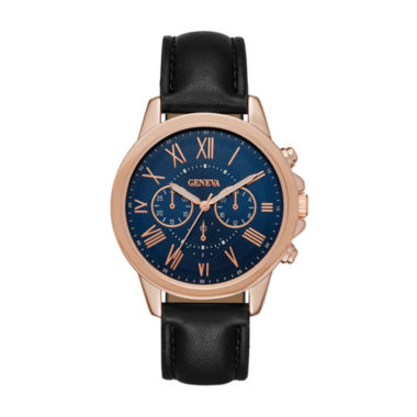 jcpenney.com | Geneva Womens Rose Gold-Tone Strap Watch