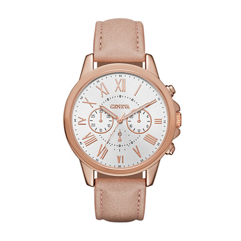 Geneva Womens Pink Strap Watch