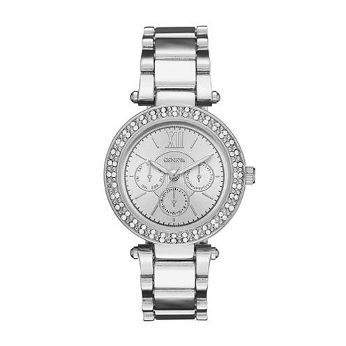 Geneva Womens Silver-Tone Bracelet Watch