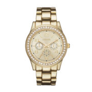 Geneva Womens Rose Gold-Tone Bracelet Watch
