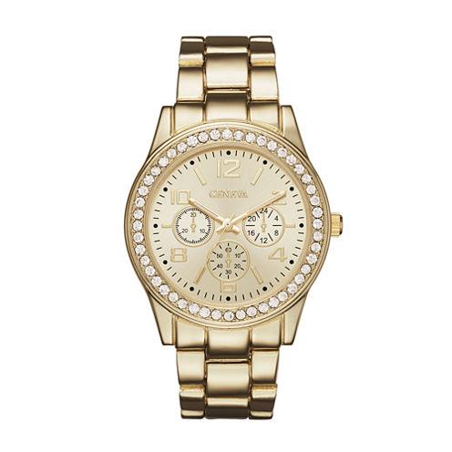 Geneva Womens Rose Gold-Tone Bracelet Watch